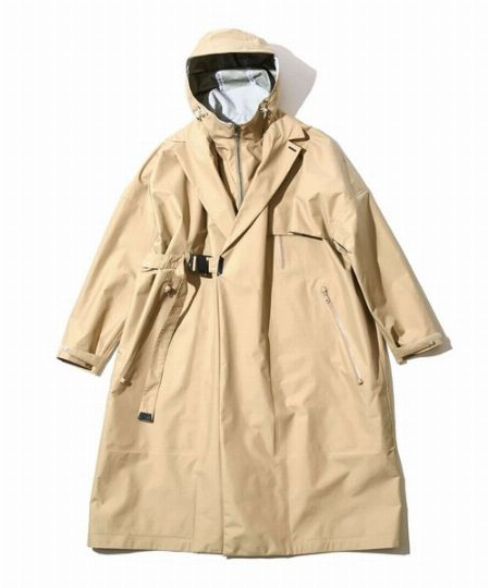 『エフシーイー』防水ラップダブル2WAY ブレステッドコート