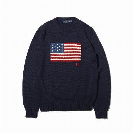 フラッグ ロングスリーブ セーター