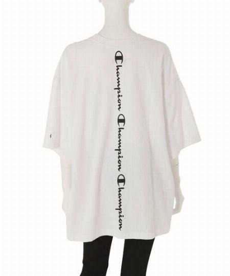 『チャンピオン』×『シップス』マーセライズドコットン リラックスフィット フェイクレイヤード Tシャツ