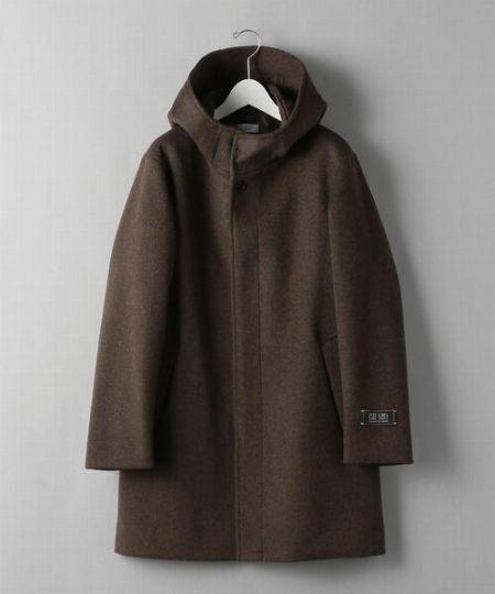 『ビューティ&ユース ユナイテッドアローズ』120S メルトン フーデッド コート