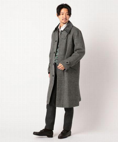『バブアー』シングルブレステッドコート ウィリアムブリス グランチェック