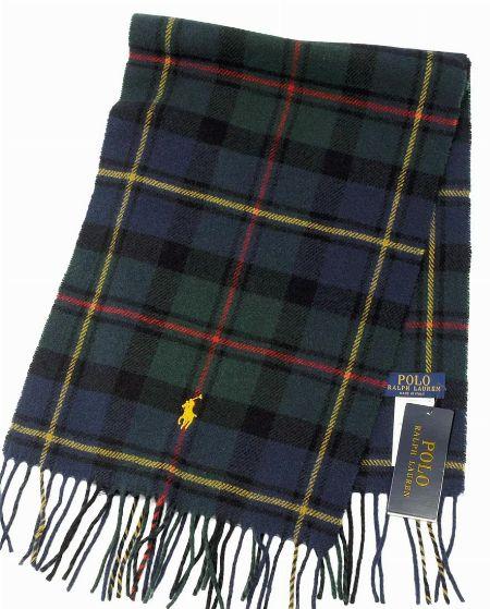 プラッド ウール フランネル スカーフ