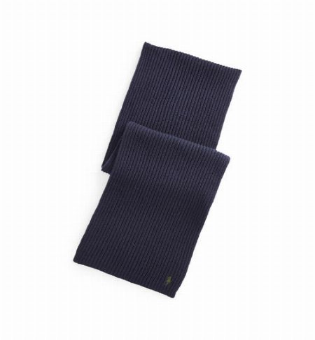 リブド ウールカシミヤ スカーフ