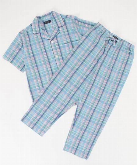 クーパー チェック柄 パジャマ(半袖)
