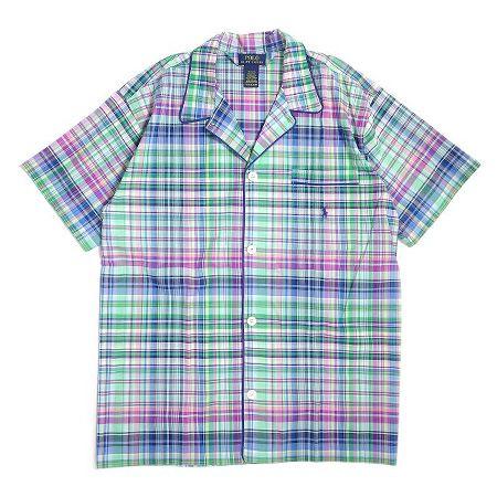 マドラスチェック パジャマシャツ