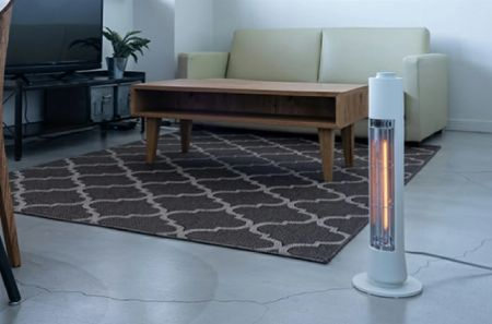 ピンポイントで温めるため、部屋全体の湿度が下がりにくい
