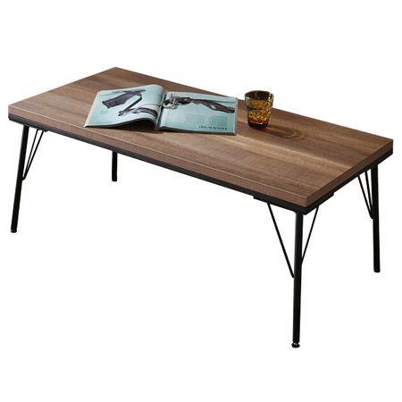 古材風アイアンこたつテーブル ブルック