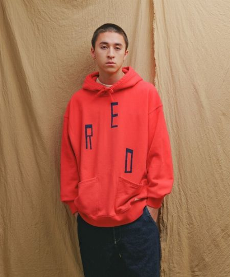 HOODED SWEATSHIRT TRUE RED