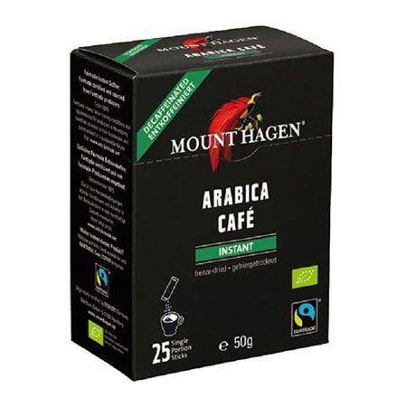 『マウント ハーゲン』オーガニック フェアトレード カフェインレス インスタントコーヒー スティック