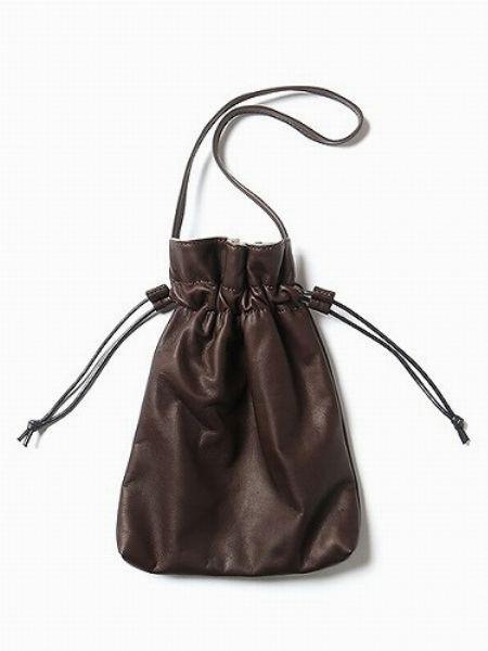 『ミスターオリーブ』ウォータープルーフ ライトレザー/巾着バッグ