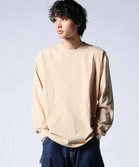 6.5オンス ガーメント ダイ クルーネックロングTシャツ