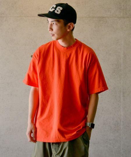 6.5オンス ガーメント ダイ クルーネックTシャツ