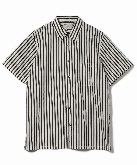 コットンワッシャーストライプシャツ