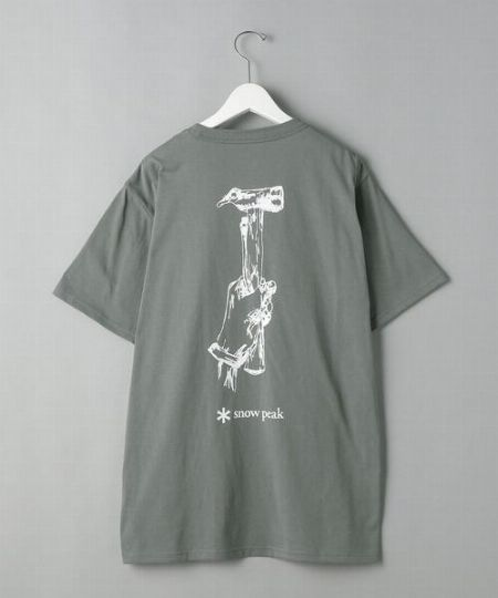 『スノーピーク』ペグ&ハンマーTシャツ