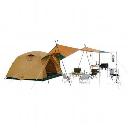 ▼タイプ2:キャンプ場でよく見るメジャーテント「タフシリーズ」