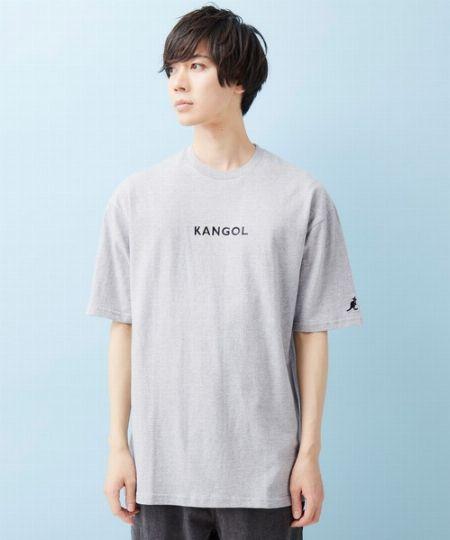 『モノマート』別注ロゴ刺繍 プリント半袖Tシャツ