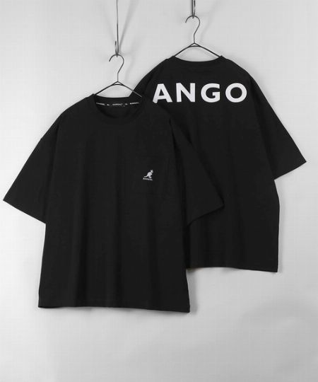 バックプリント ブランドロゴ ポケット付Tシャツ
