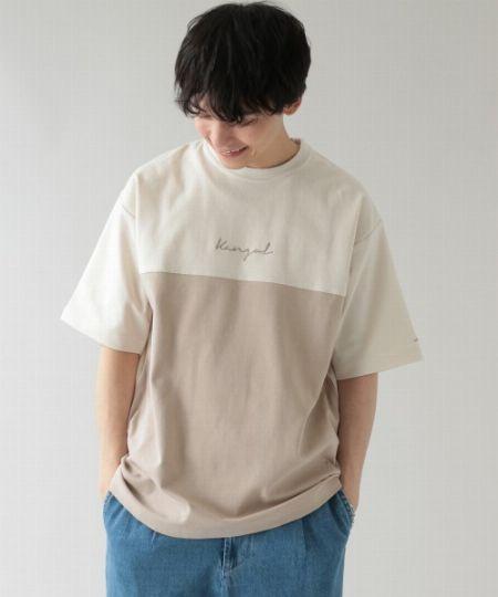 『レイジブルー』別注 切り替えダンボールTシャツ
