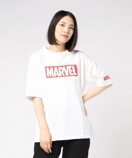 『カンゴール』×『マーベル』BOXロゴTシャツ
