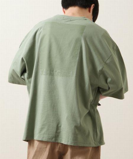 『ジップファイブ』別注 同色バックプリントビッグ半袖Tシャツ