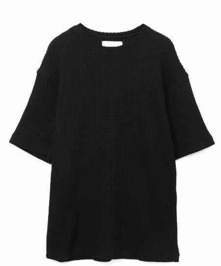 『シーグリーン』ビッグワッフルTシャツ