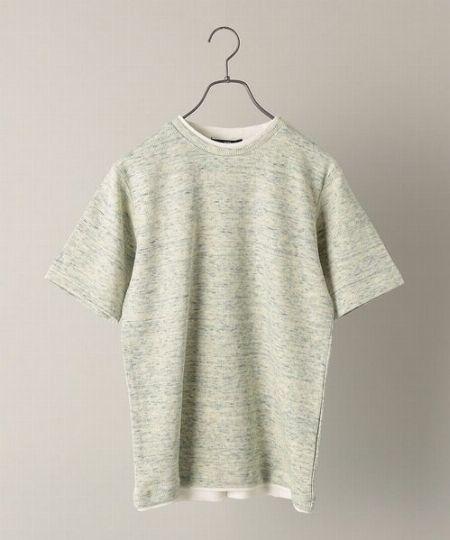 『シップス』ワッフル フェイクレイヤードクルーネックTシャツ