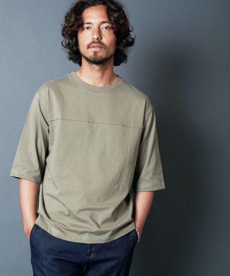 『エディフィス』ハイゲージ ダブルニット Tシャツ