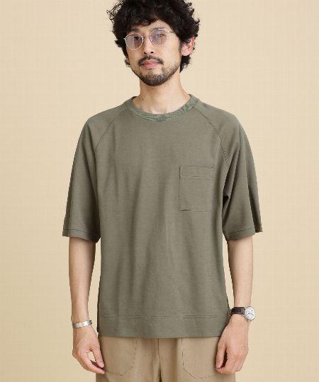 『ニコアンド』ハニカムレイヤードTシャツ