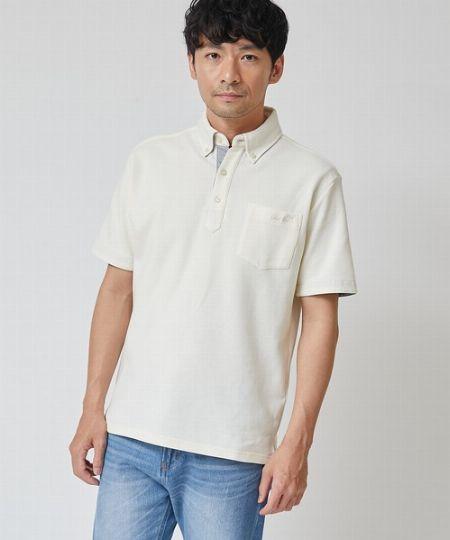 『アーノルドパーマー』ソロテックスミニリップル半袖BDポロシャツ