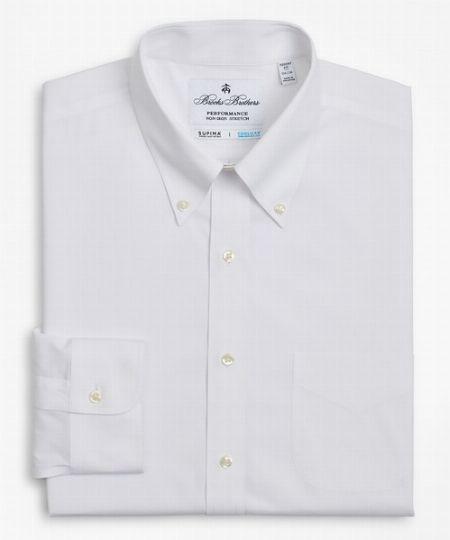 『ブルックスブラザーズ』パフォーマンス ノンアイロン ストレッチ ツイル ポロカラーシャツ