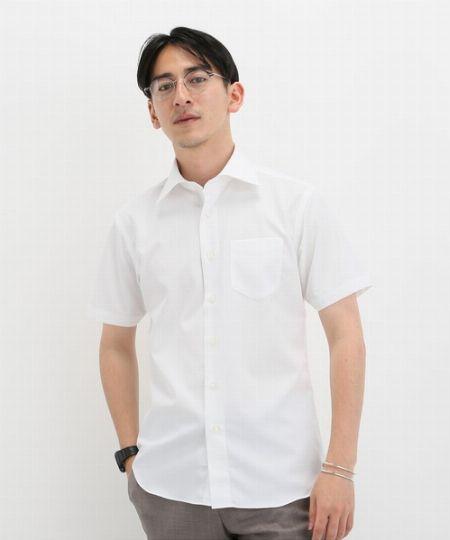 『エディフィス』イージーアイロン 半袖セミワイドシャツ
