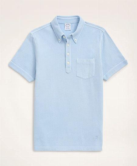 Red Fleece コットンピケ ティッピング ポロシャツ