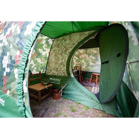 『モビバ』バックパックサウナ RB170M用前室付き囲いテント 2枚目の画像