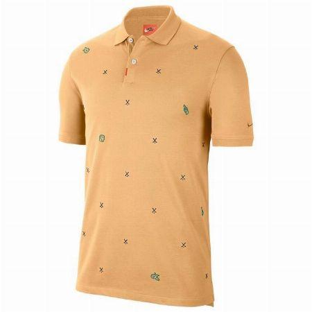 飛び柄刺繍 半袖ポロシャツ