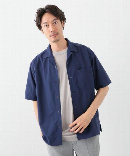 『エディフィス』ソロテックス オープンカラーシャツ