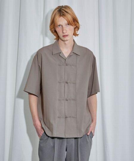 『ユナイテッドトウキョウ』リネンライクチャイナオープンカラーシャツ