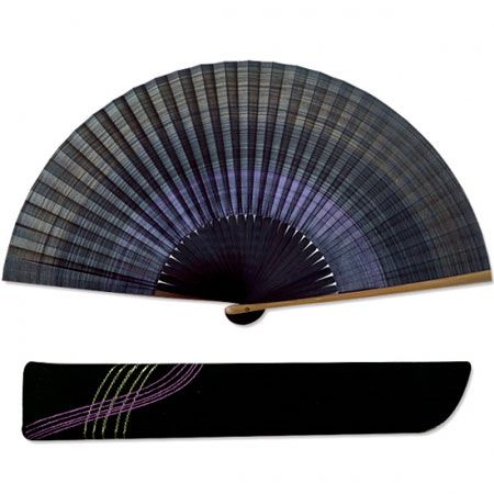 『伊藤常』シケ引き紫 扇子袋セット