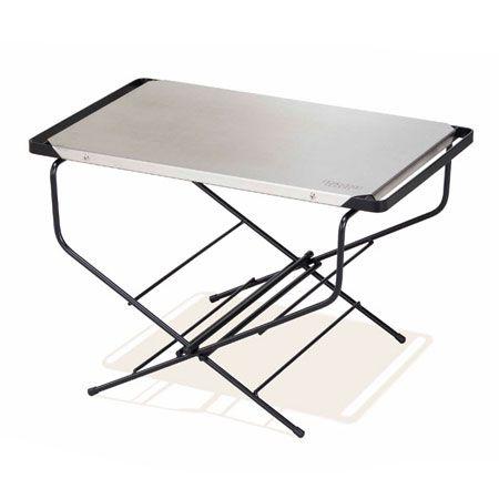 『ハングアウト』ファイヤーサイドテーブル ステンレストップ