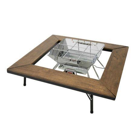 『ロゴス』焚き火台テーブル アイアンウッド