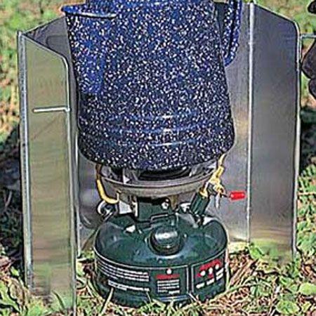 風防を使って安定した火力を鍋底にキープ