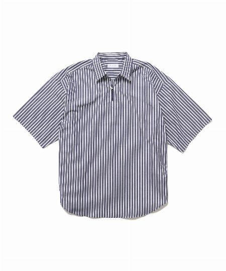 『アダム エ ロペ』オーバーサイズ スキッパー半袖シャツ