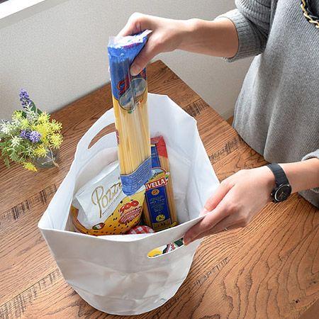 自宅においては、おしゃれな収納やエコバッグとしても活用可能!