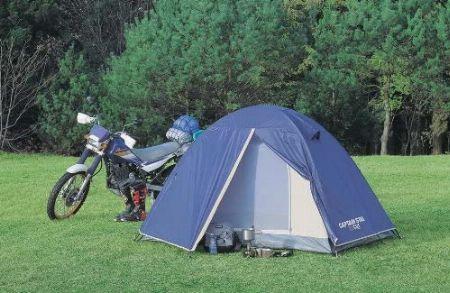 積載を考慮するツーリングには軽量テントを