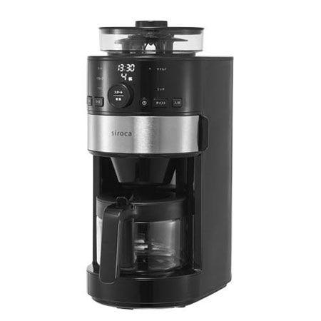 挽きたての香り高いコーヒーが味わえる「コーン式全自動コーヒーメーカー」