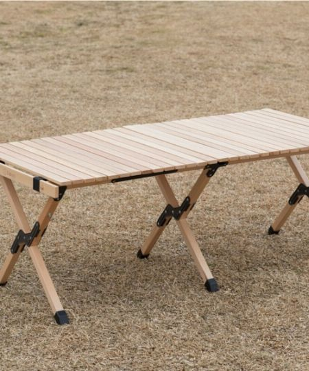 『スモア』幅122cm 木製折りたたみテーブル