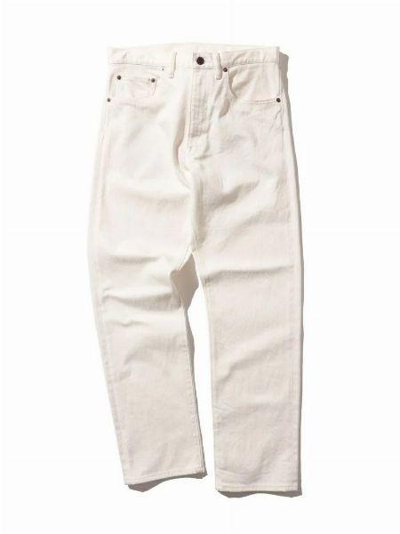 『ビームスプラス』デニム 5ポケット テーパード パンツ