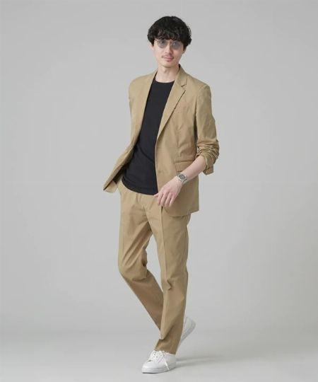 『ミスターオリーブ』ダブル ビッグシルエット ソフトジャケット