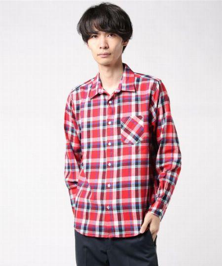 『ブラックレーベル クレストブリッジ』コットンリネンドビークレストブリッジチェックシャツ