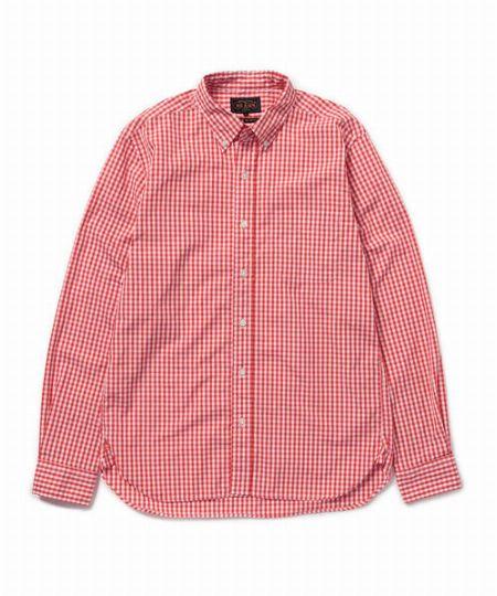 『ビームス プラス』ブロード ギンガムチェック BDシャツ