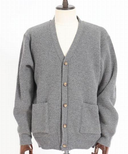 『アンゲネーム』Wall Thickness Wool Knit Cardigan